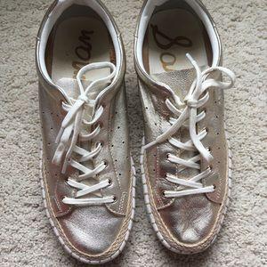 Sam Edelman Metallic Gold Sneakers